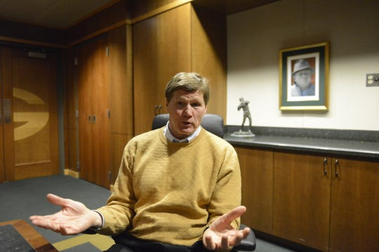 Mark Murphy, Packers President and CEO, on Jan. 21, 2019, in Lambeau Field board room.