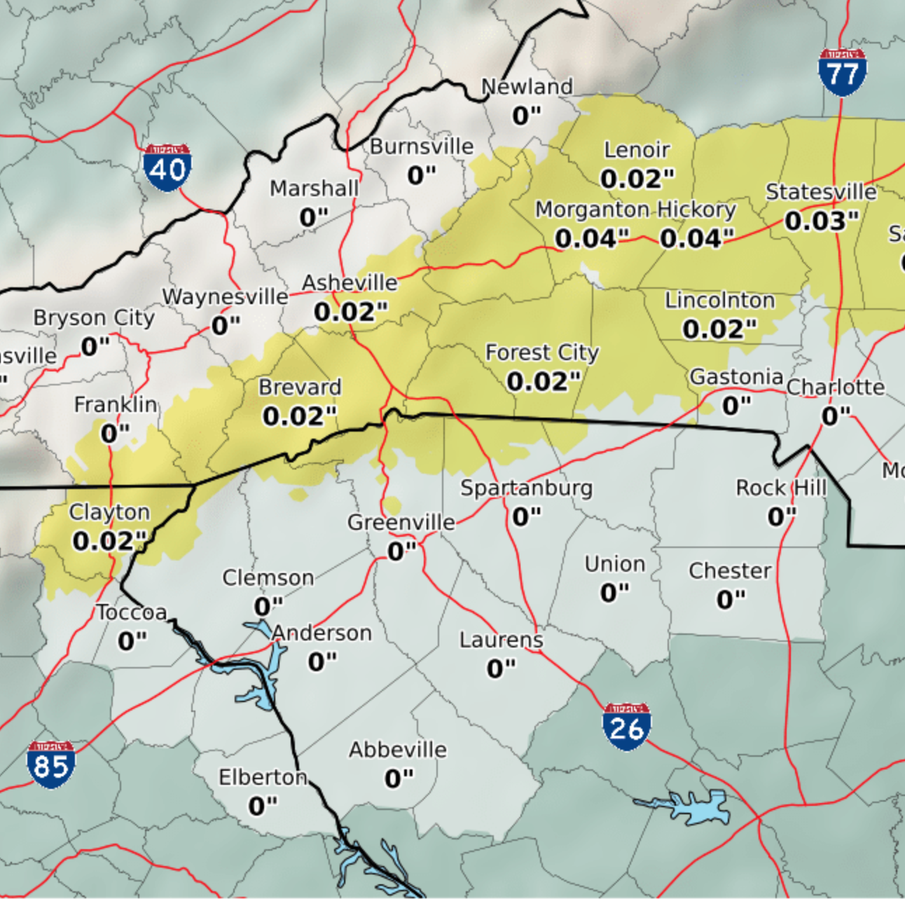Greenville weather: Small amount of freezing rain expected Wednesday