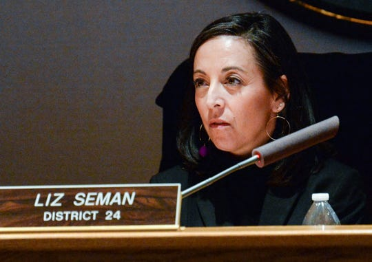 Liz Seman, Greenville County Council District 24, during the Greenville County Council meeting Tuesday, January 22, 2019.