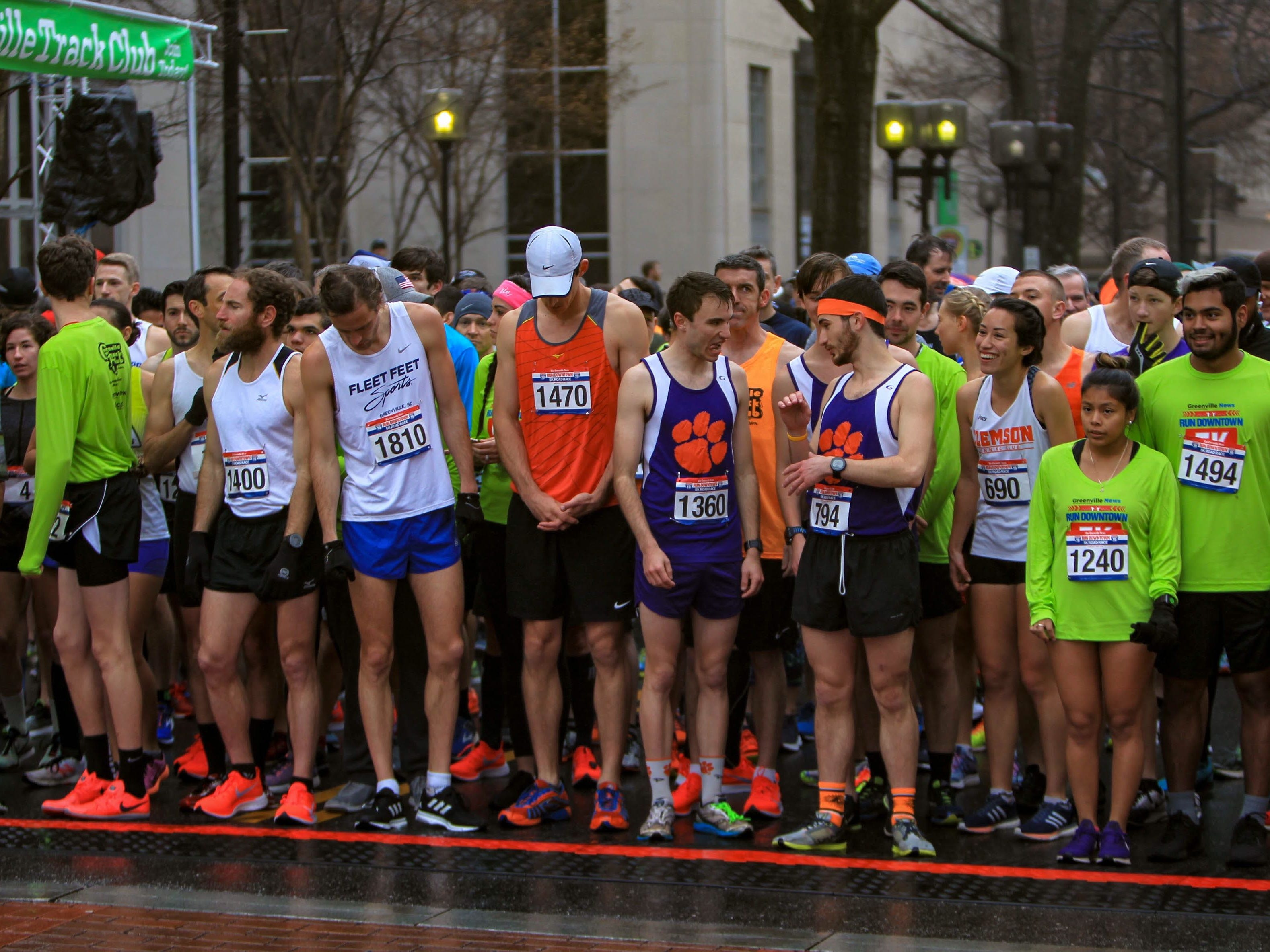 Runners line up at the start of The Greenville News Run Downtown 5k.