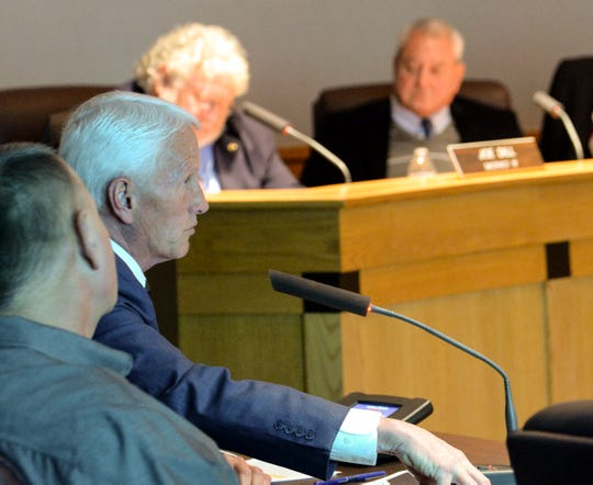 In this Jan. 22, 2019, file photo, Greenville County Administrator Joseph Kernell speaks to the Greenville County Council about how to improve the county's EMS operations.