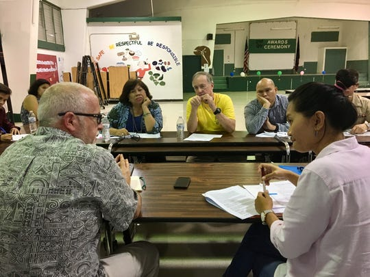 Government, military and State Historic Preservation Office and Guam Preservation Trust discuss the renewal of the 2009 Programmatic Agreement in this file photo.