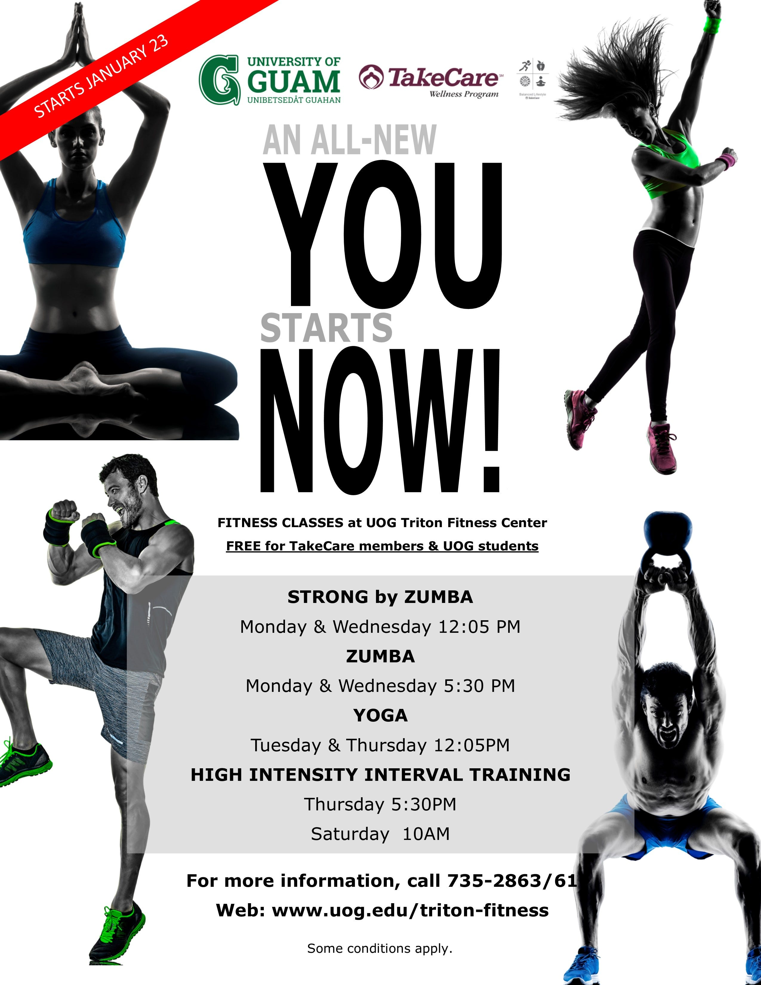 The UOG Triton Fitness Center launches an all-new array of fitness classes on Jan. 23, 2019.