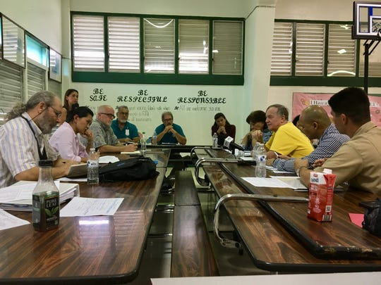 Officials from the government, the military, the State Historic Preservation Office and the Guam Preservation Trust discuss the process guidelines for coming to a new Programmatic Agreement for 2019.