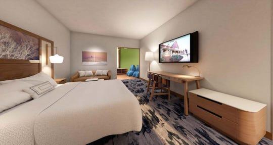 A render of a room at the Fairfield by Marriott Fair Oaks Farms