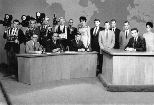 Faith Levitt (center) served as women's director at WISH-TV (Channel 8)  from 1963 to 1971.