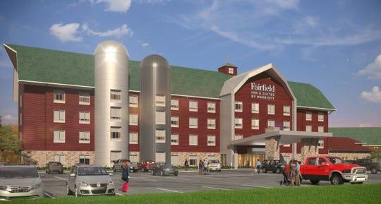 A render of the Fairfield by Marriott Fair Oaks Farms