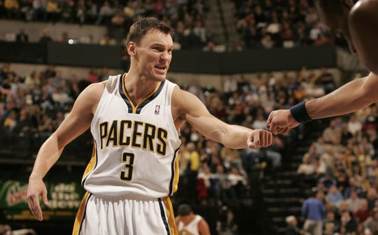 Sarunas Jasikevicius, when  he played for the Indiana Pacers in 2005.