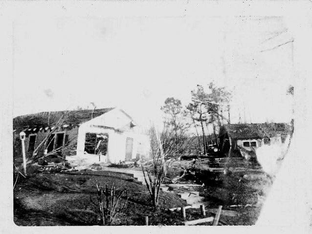 A tornado tore through the city of Hazlehurst in 1969.
