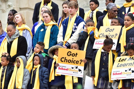 A National School Choice Week rally was held throughout the country in January.