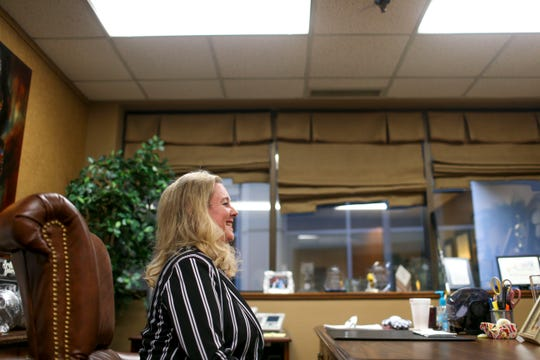 Dr. Lisa Piercey, vice president of West Tennessee Healthcare who was recently selected by Governor Bill Lee to become Commissioner for the Tennessee Department of Health, sits down for an interview with The Jackson Sun at Jackson-Madison County General Hospital in Jackson, Tenn., on Monday, Jan. 21, 2019.