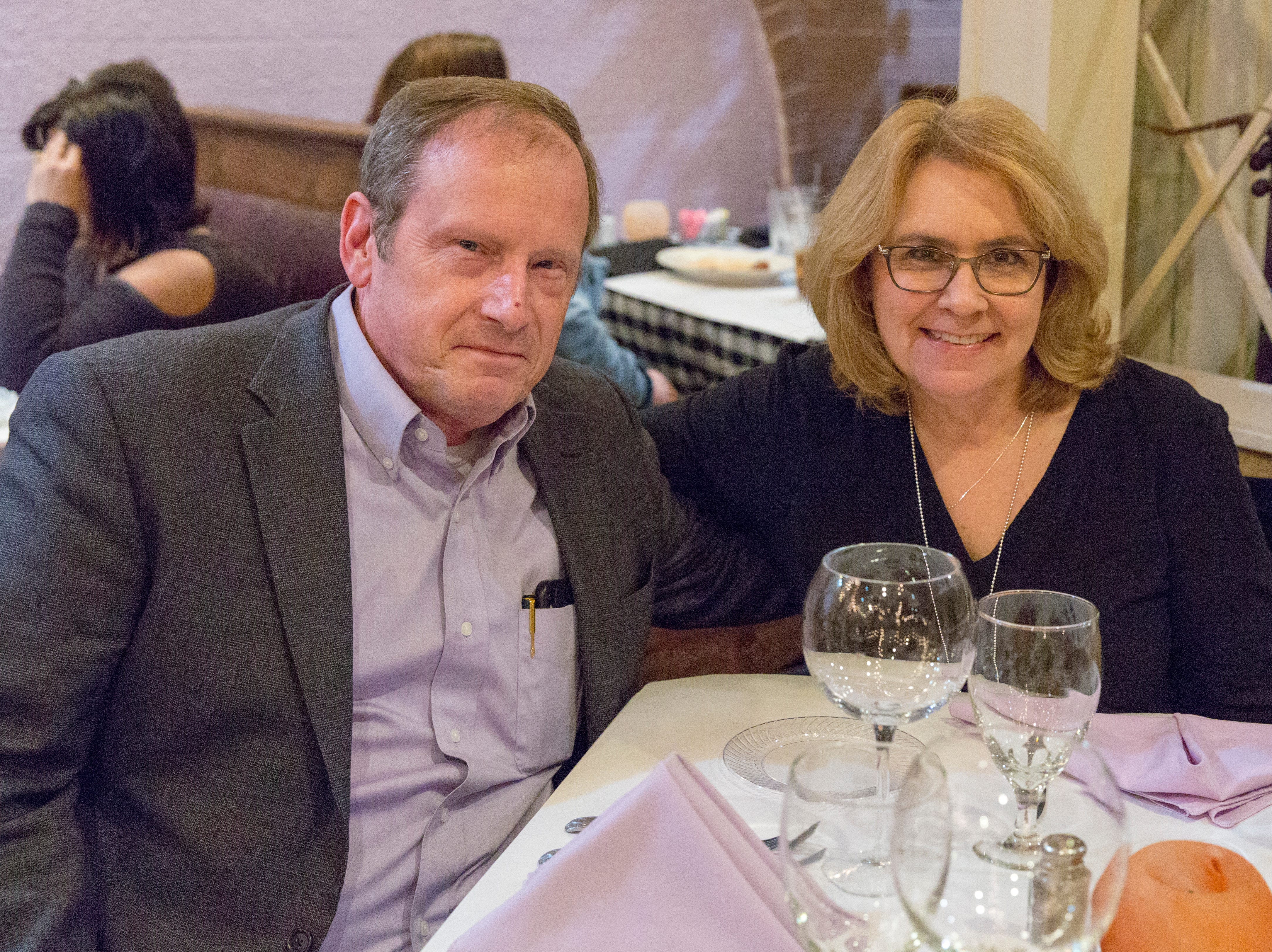 Michael and Debbie Anton attended the last Wine Tasting Dinner held at Baudo's Thursday night January 17, 2019.