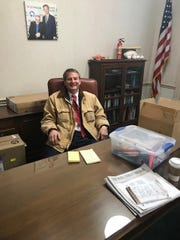 U.S. Rep. Tim Burchett visits his Knoxville office, which is undergoing renovations, in January 2019.  It is in the Howard Baker federal building in downtown Knoxville.