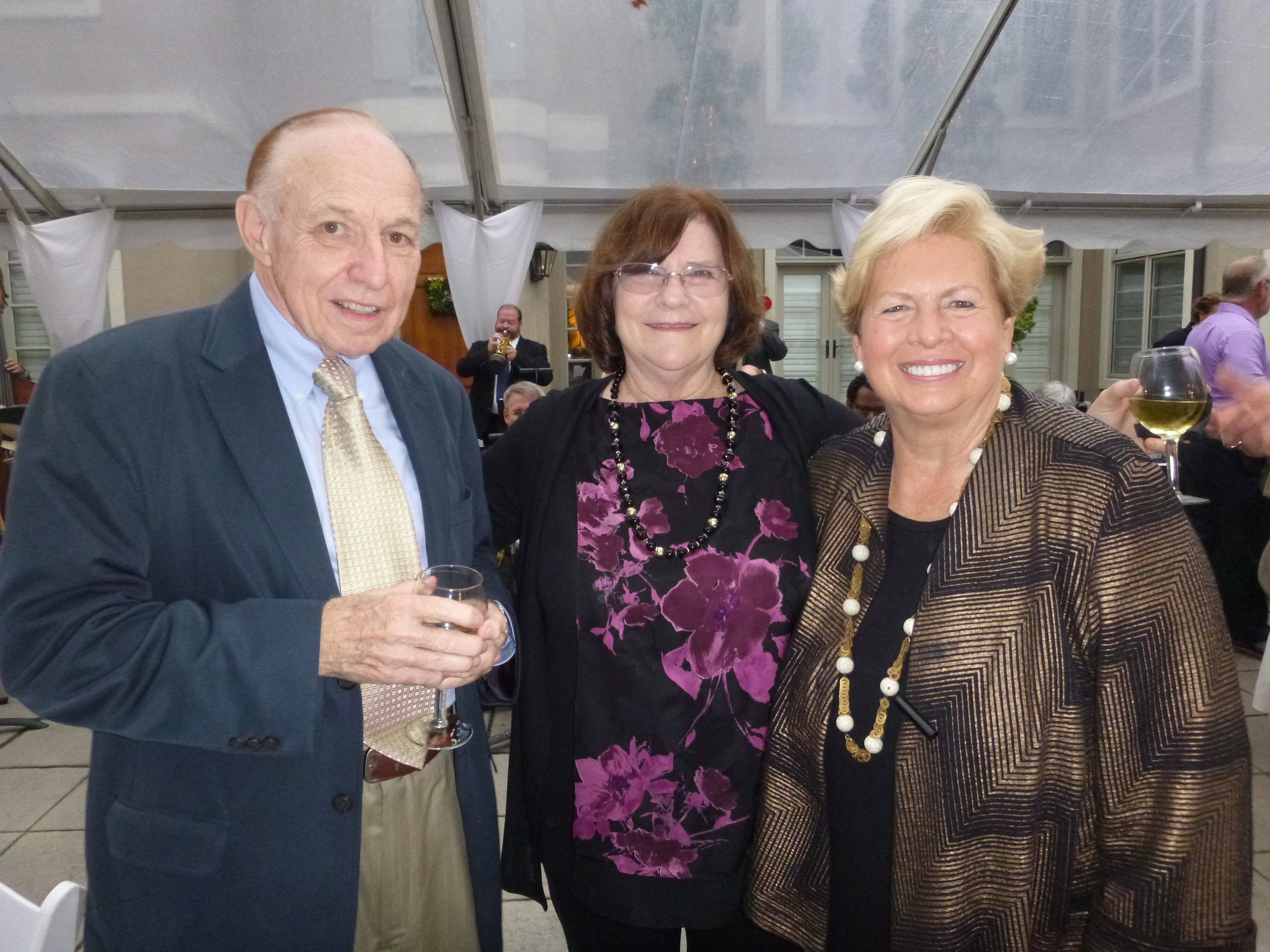 At the Knoxville Jazz Orchestra's Evening Under the Stars' are Gerald and Rachel Gibson with Joan Cronan.