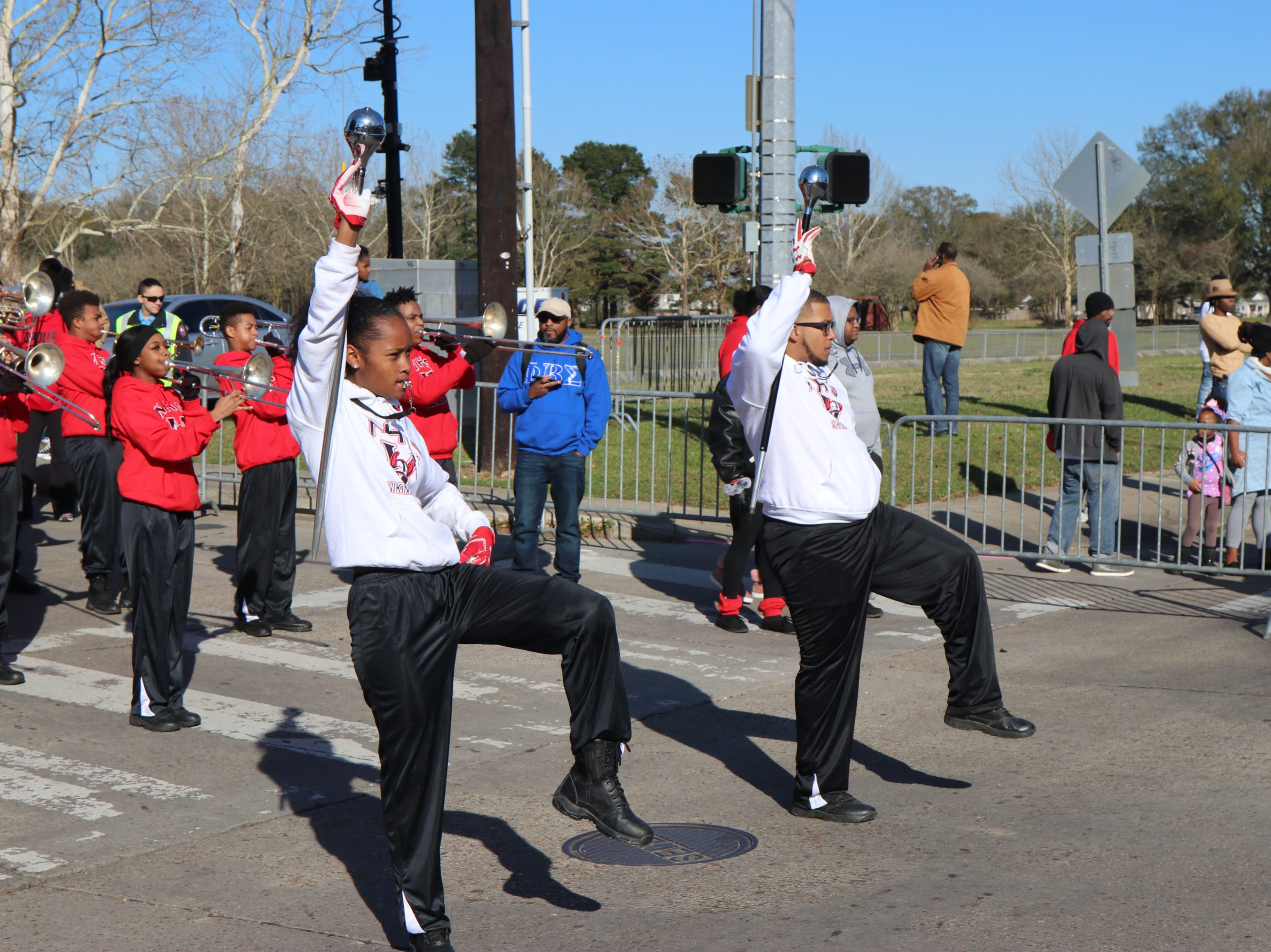 Northside High School Band performing for the MLK  Parade Sunday,  Jan.20, 2019.