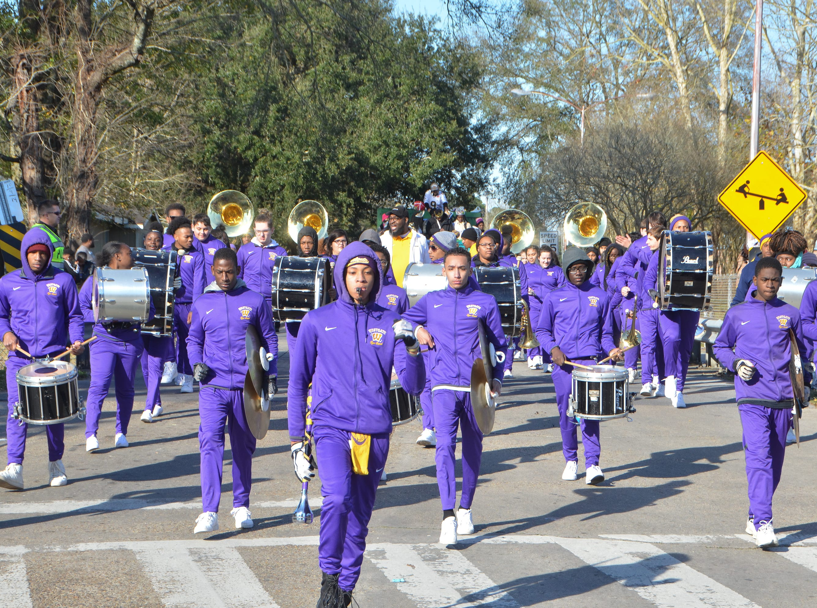 Wstgate H.S. Marching in the MLK  Parade.Sunday, Jan.20, 2019