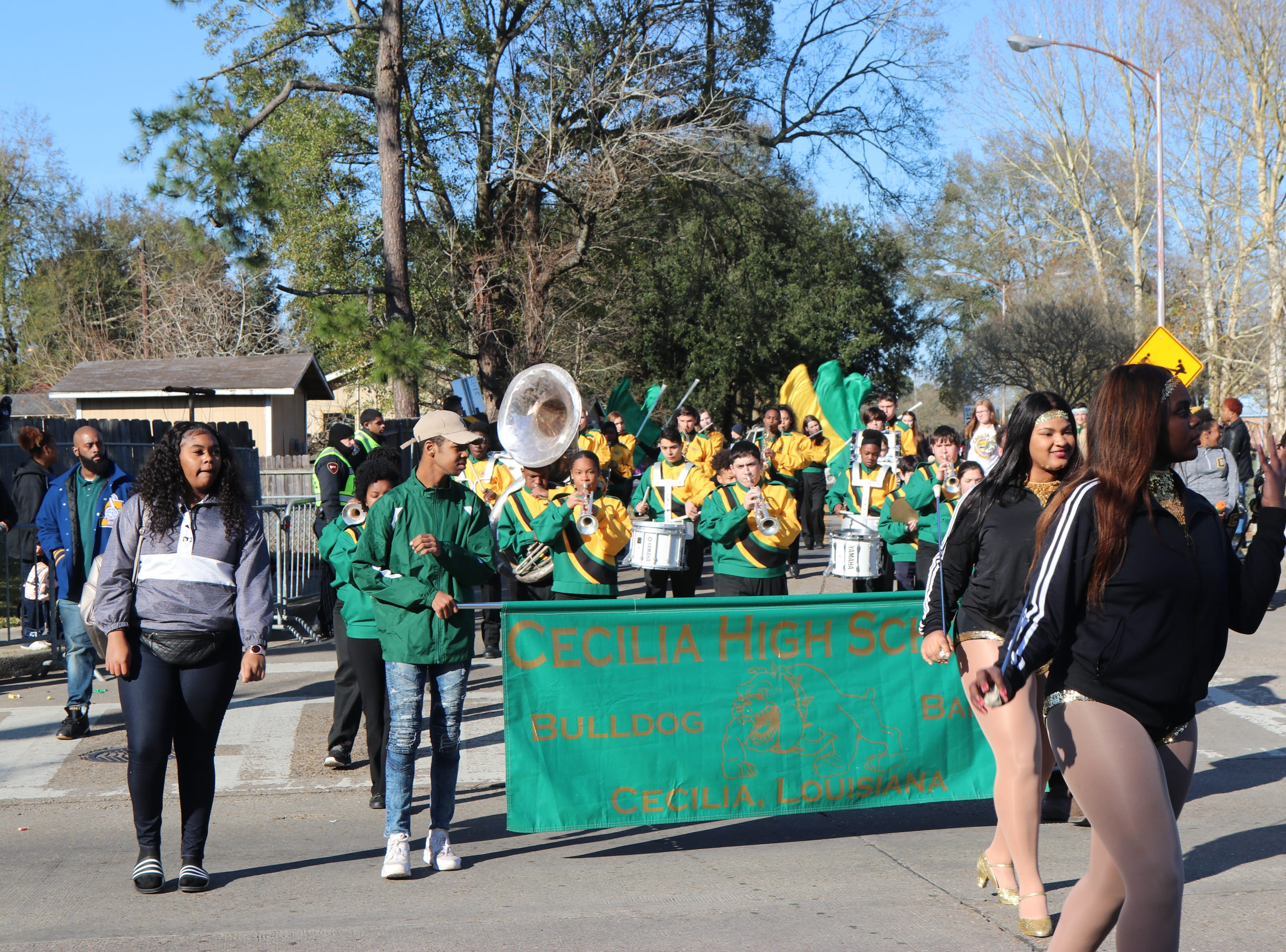 The Bulldog Band of Ceceila H.S. performing for the 2019 Martin Luther King Parade Sunday, Jan. 20, 2019.