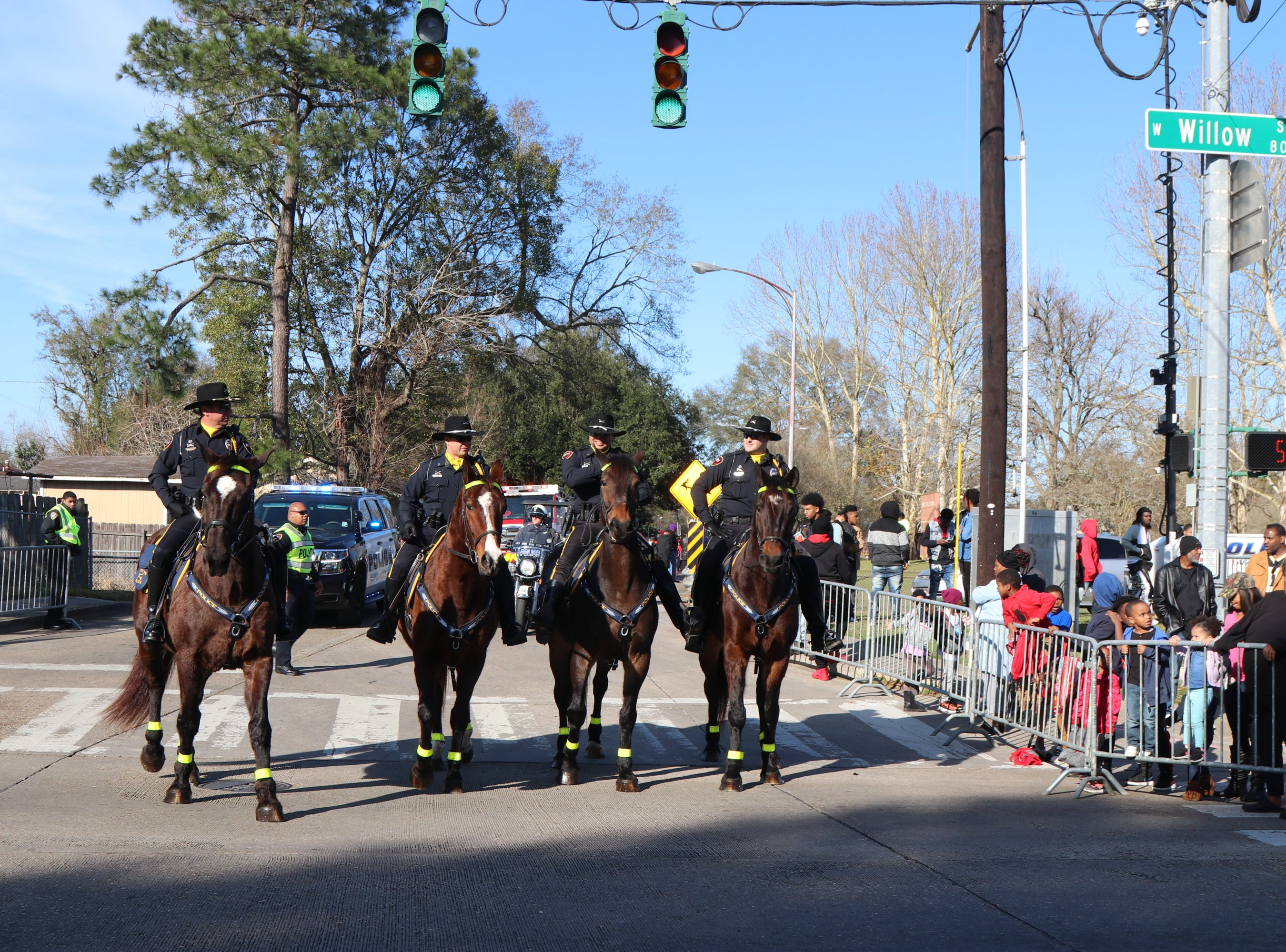 Lafayette Police Department Mounted Police at the 2019 Martin Luther King Parade Sunday, Jan.20, 2019