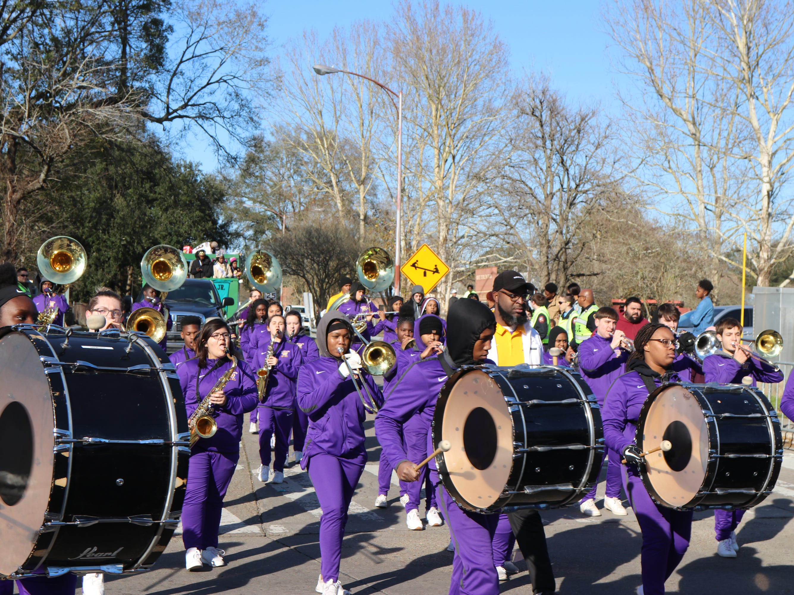 Westgate Tigers Band marching at the 2019 Martin Luther King Parade Sunday, Jan.20, 2019