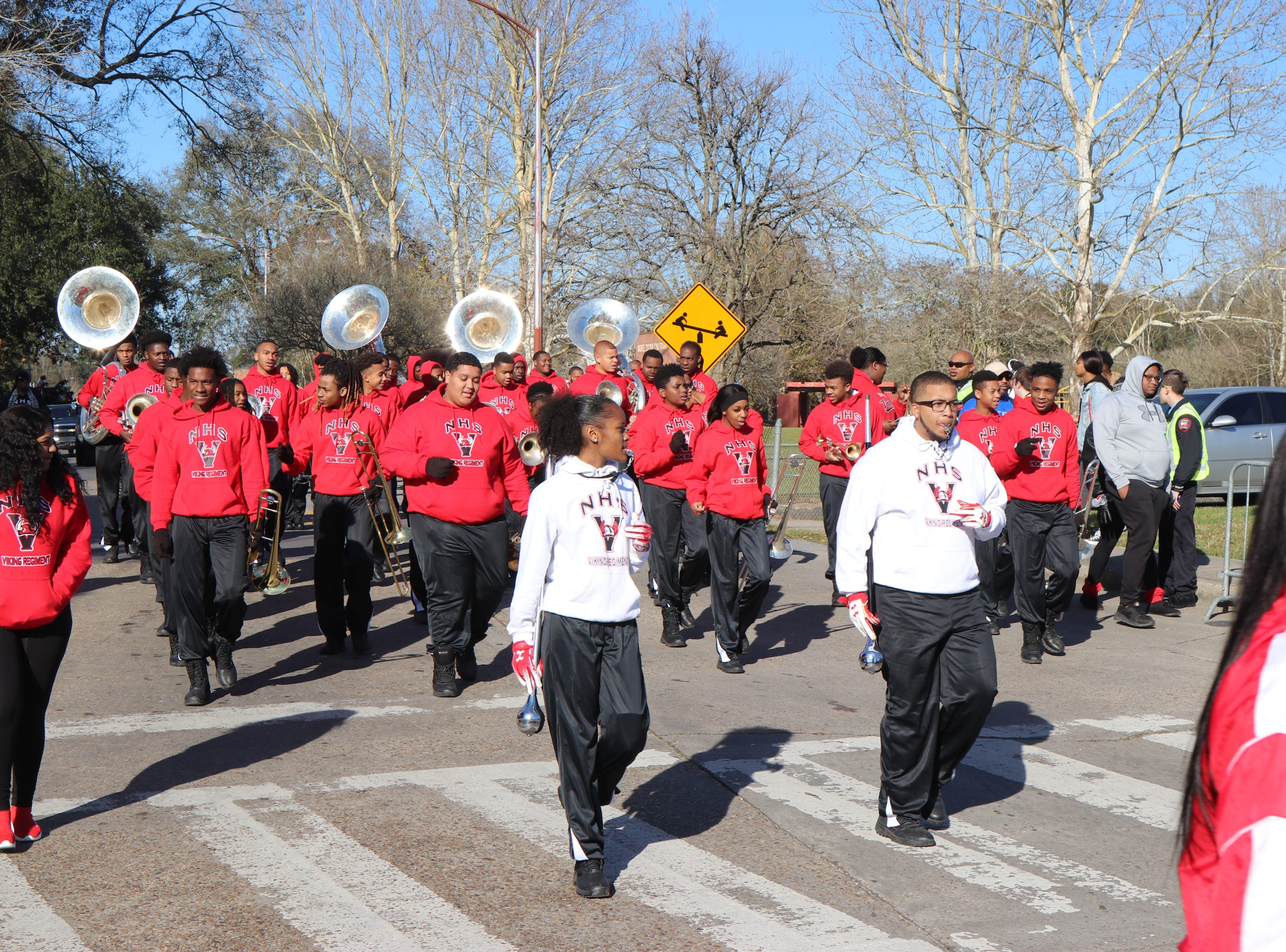 Northside High School Band performing for the MLK  Parade Sunday, Jan. 20, 2019