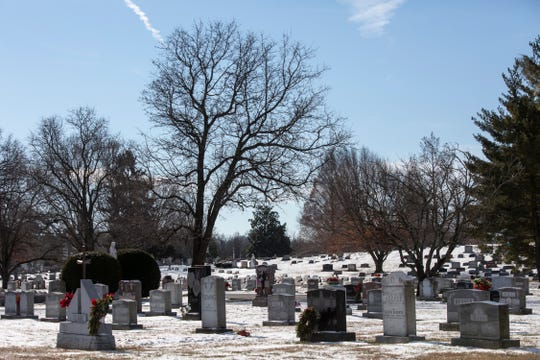 A view of St. Michael's Cemetery in Germantown.