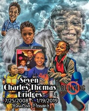 A collage created for Seven Bridges, a 10-year old JCPS student, who died by suicide over the weekend.