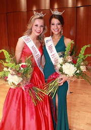 Miss Harbor Cities' Outstanding Teen 2018Olivia Lulich (left) and Miss Harbor Cities 2018 Serena Lariemoments after their crowning on March 17, 2018, in Manitowoc.