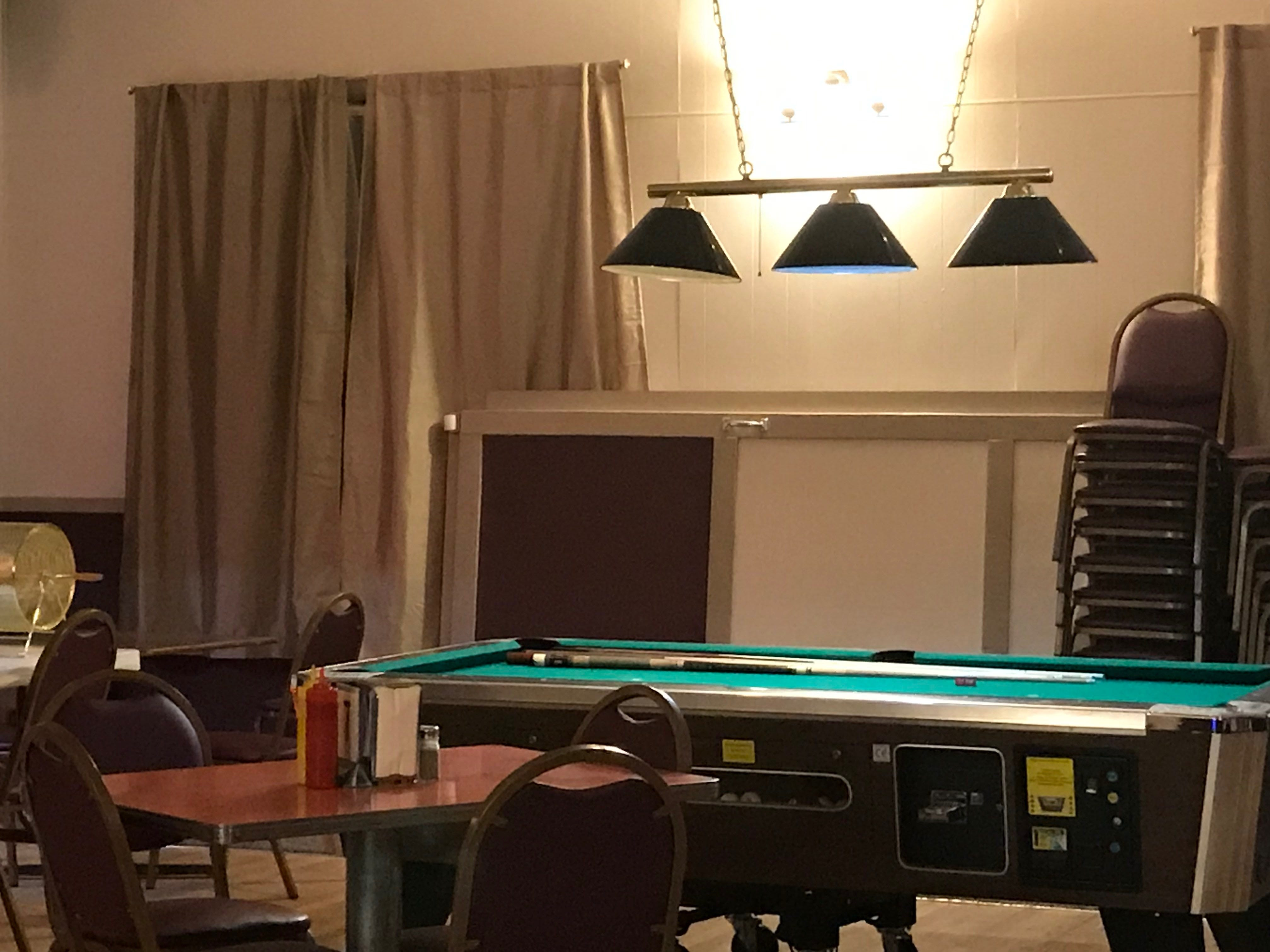 Meat's pool table