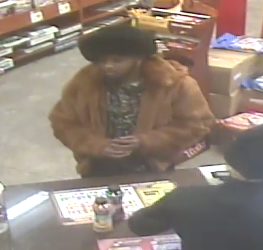Police are looking for a man suspected of using a counterfeit $100 bill at a Marshfield convenience store.