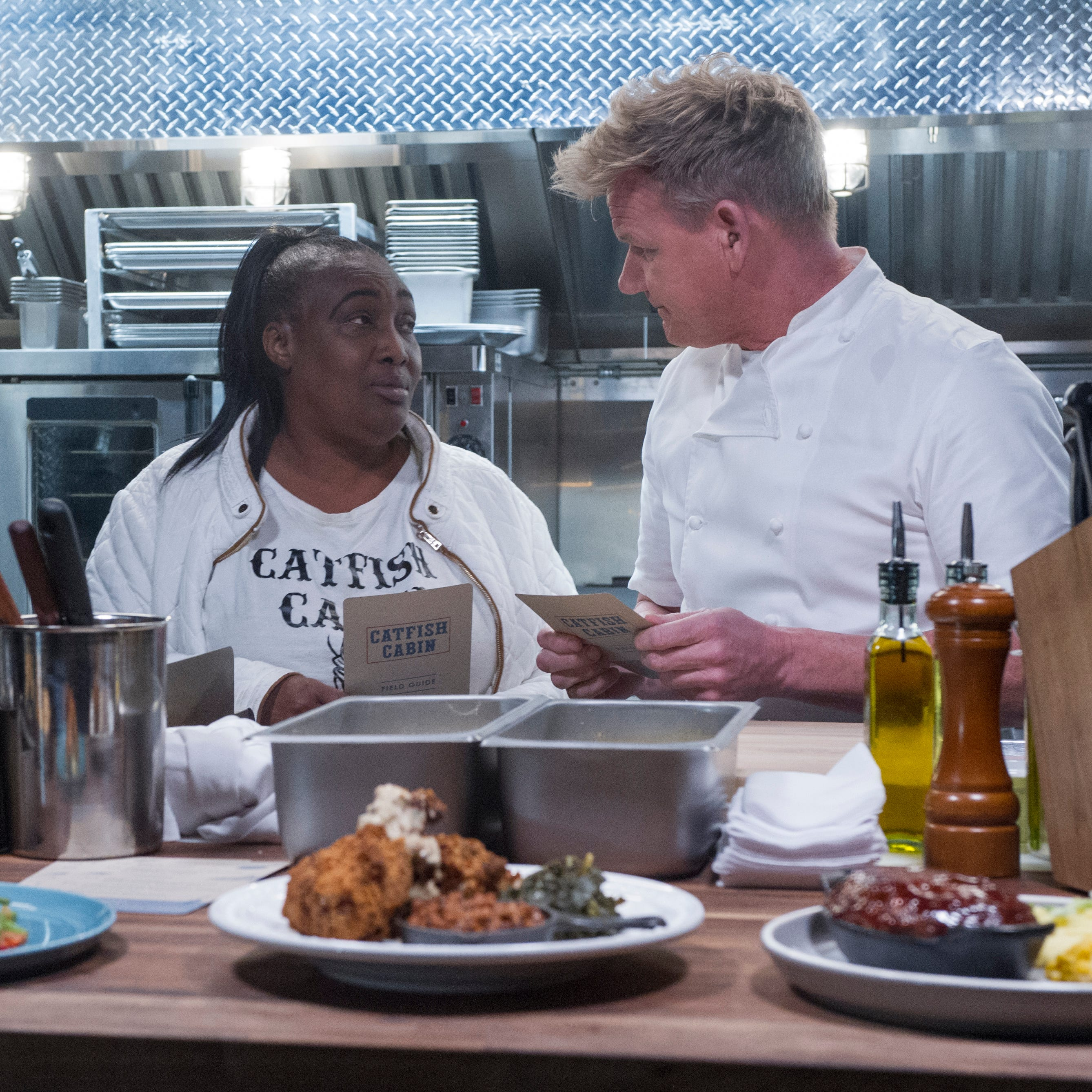 Chef Gordon Ramsay gives Catfish Cabin a makeover on his popular FOX TV show '24 Hours to Hell and Back'
