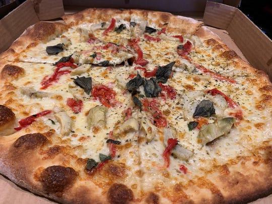 The artichoke pizza from Italian Deli and Market, Marco Island.