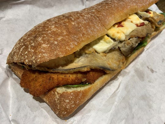 The Capitano sandwich from Italian Deli and Market, Marco Island.