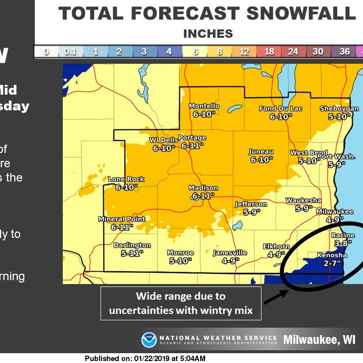 Wet, sloppy storm expected to hit Wisconsin Tuesday; totals in Fox Valley could hit 12 inches