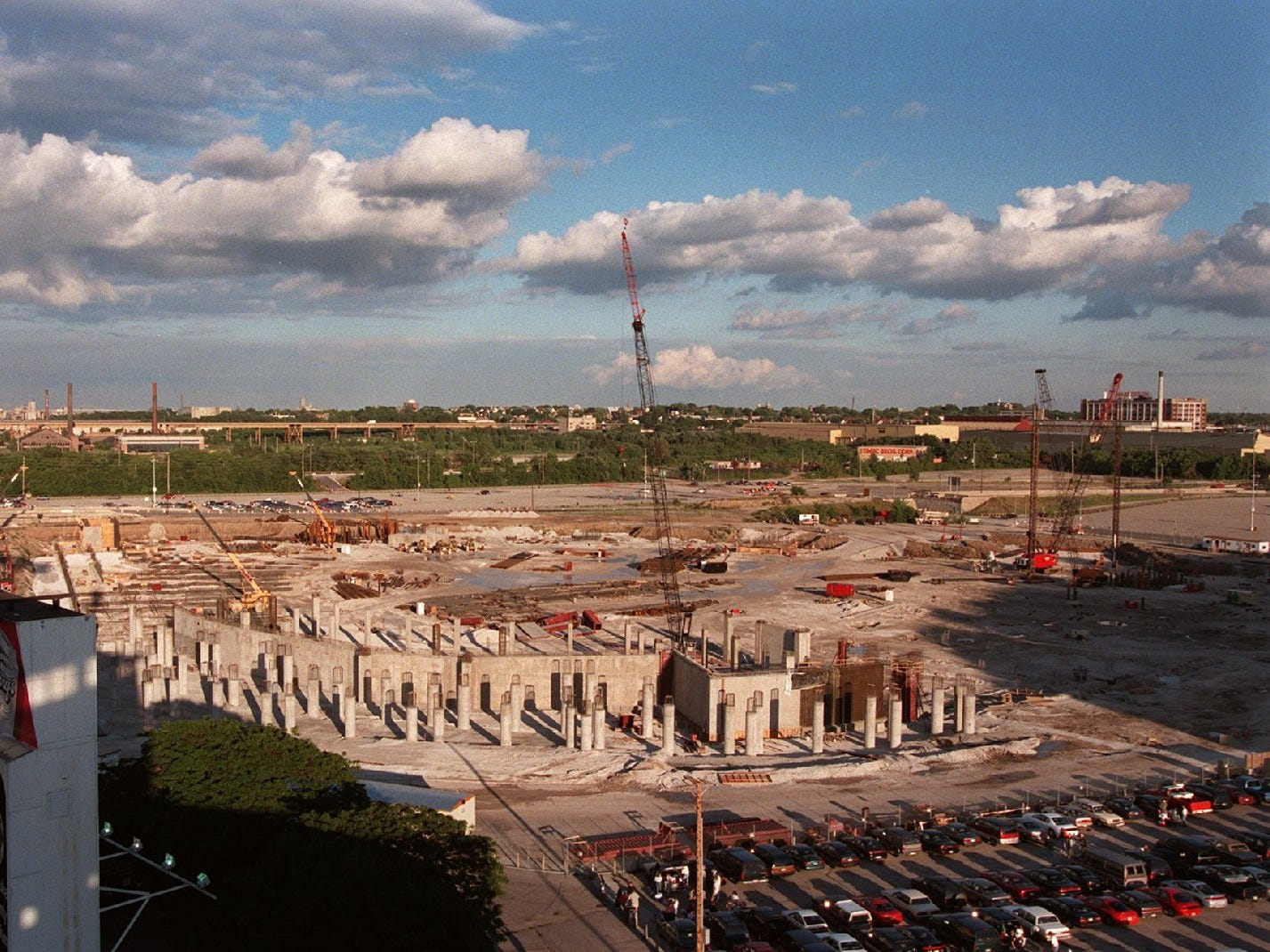 This is an update on the Miller Park construction as viewed on Aug. 21, 1997, in Milwaukee.