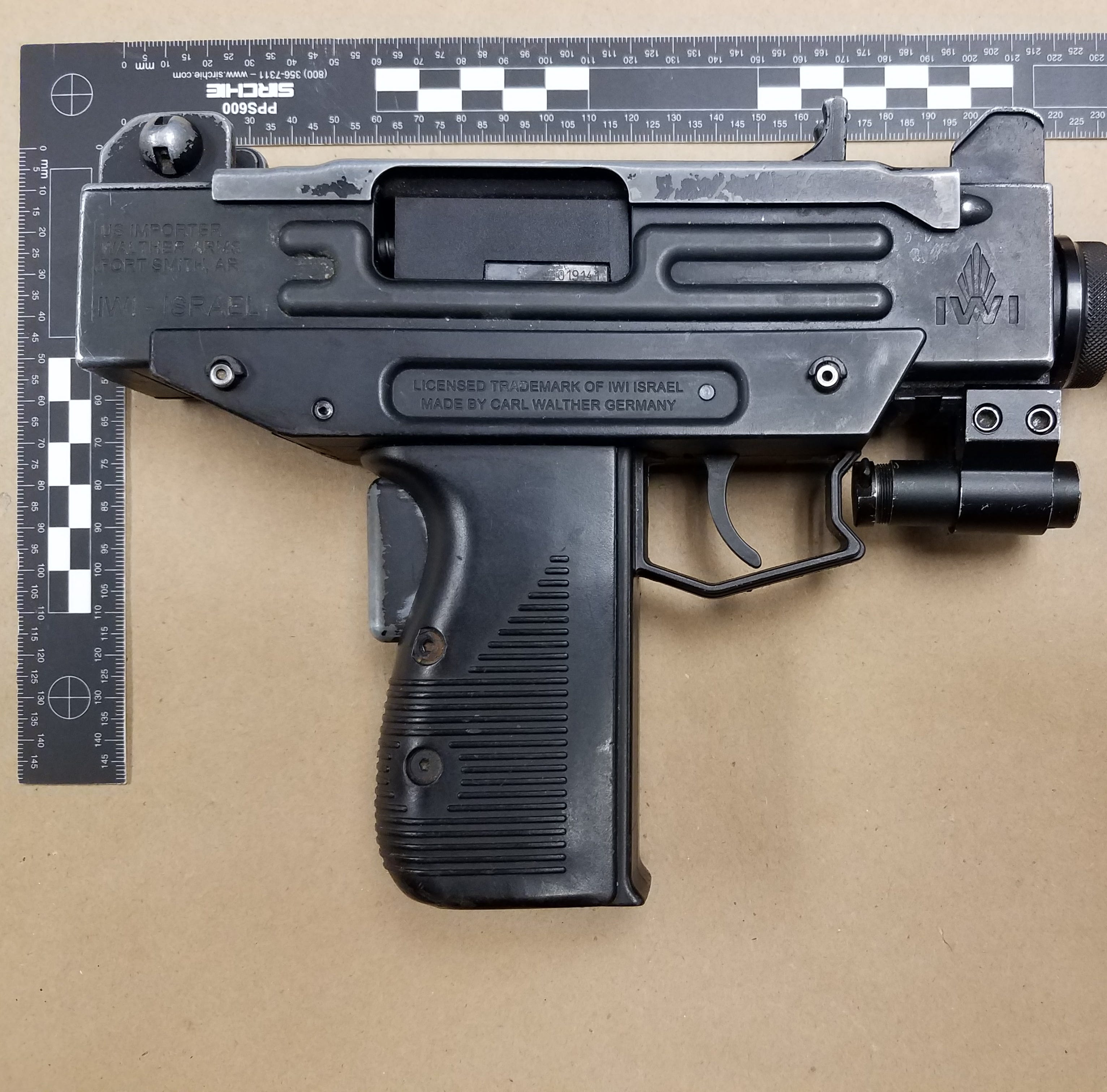 Police found an Uzi in a secret compartment during a traffic stop in Brookfield