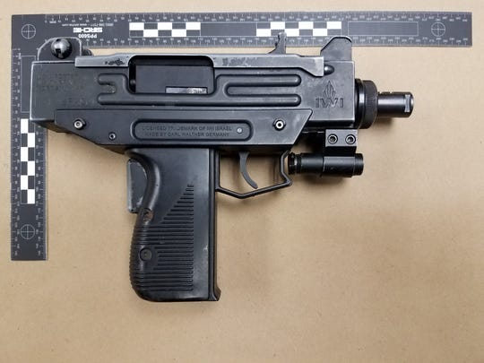 An Uzi weapon was found during a traffic stop on Jan. 15 in the city of Brookfield.