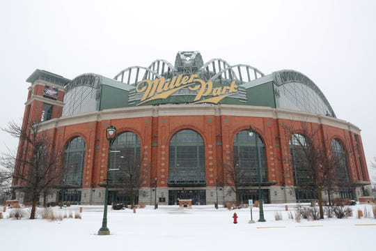 Miller Park in Milwaukee on Tuesday, Jan. 22, 2019. MillerCoors said Tuesday it's giving up the naming rights to Miller Park, home of the Milwaukee Brewers baseball team, after 2020. Beginning in 2021, the rights will go to Madison-based American Family Insurance. Photo by Mike De Sisti / Milwaukee Journal Sentinel