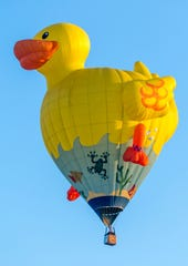 Look for the Rubber Ducky balloon piloted by Bob O'Brien at the 2019 Hudson Hot Air Affair.