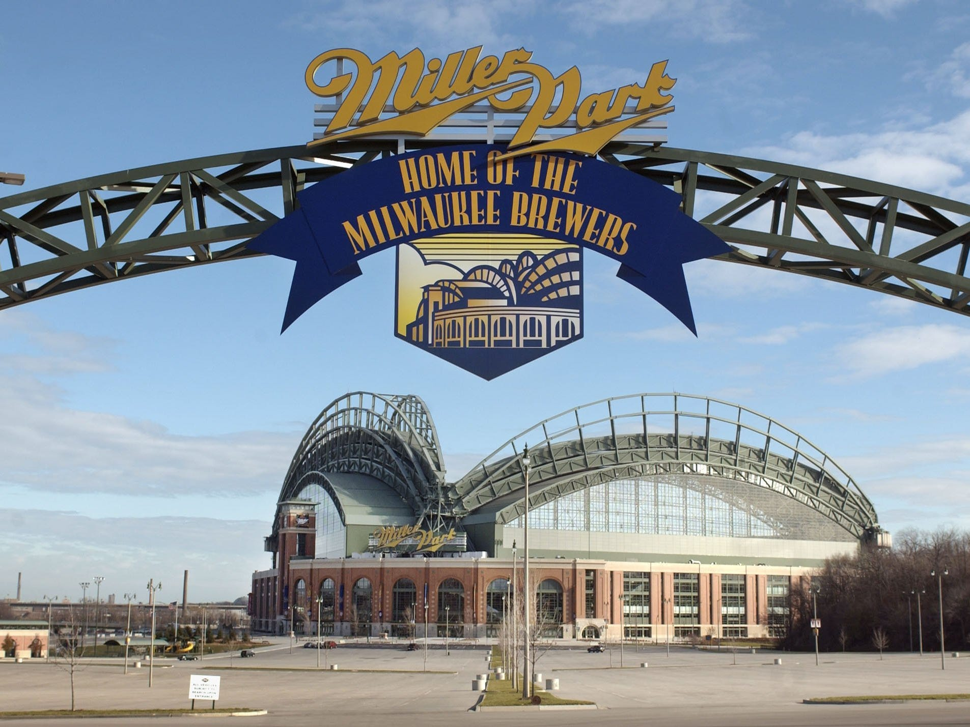 Miller Park is shown on Friday, Nov. 14, 2003.