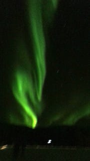 The  Northern Lights as seen from Alaska.