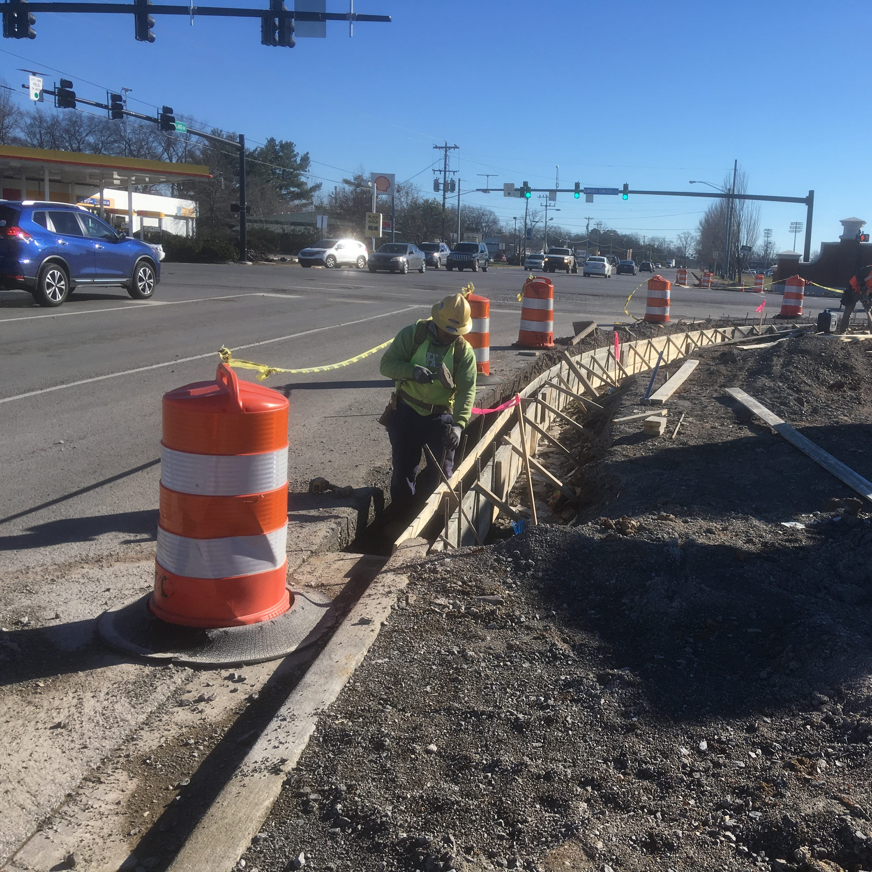 Murfreesboro's Middle Tennessee Boulevard project delayed, to be done by March