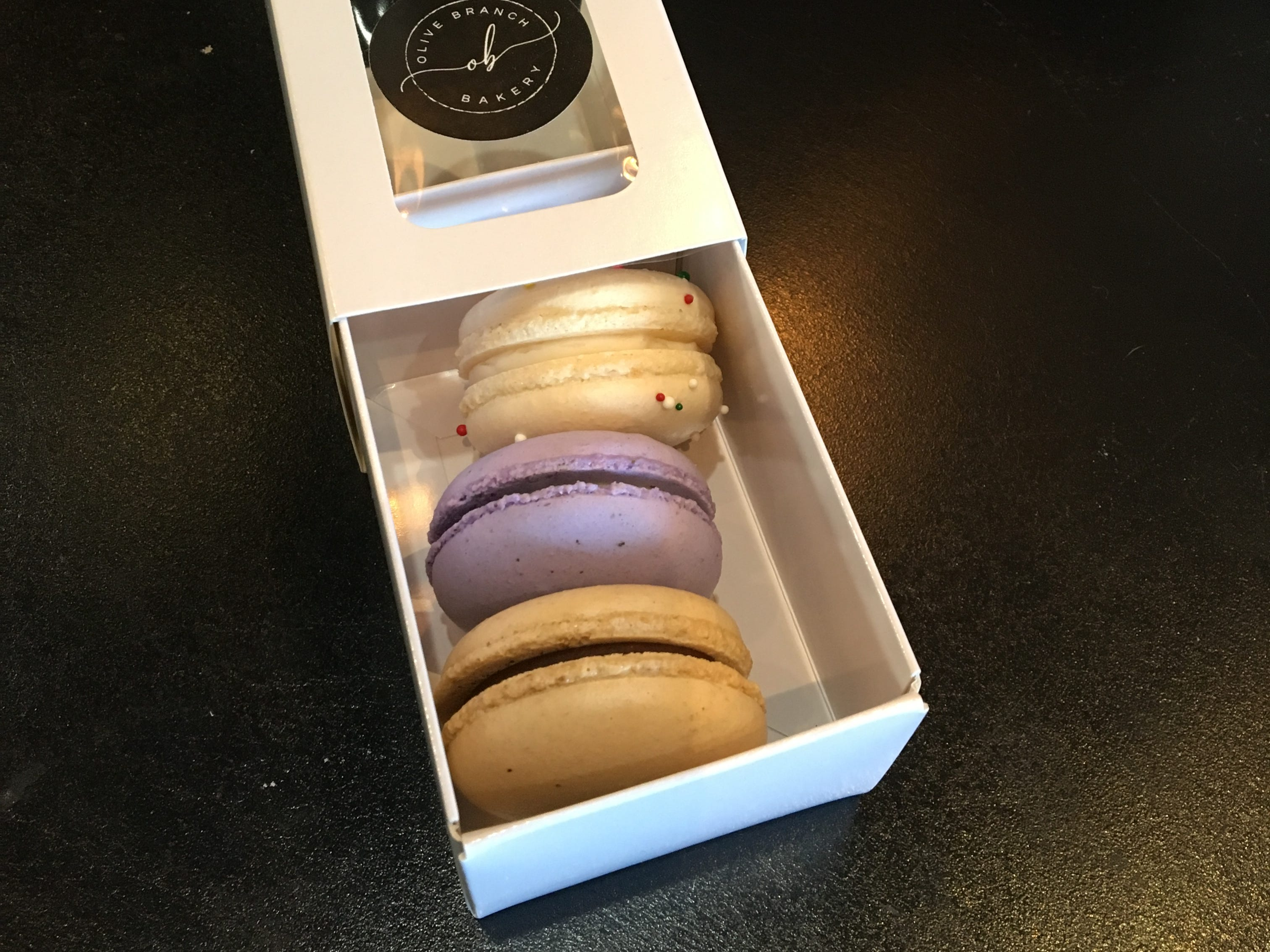 French macarons are a specialty of Olive Branch Bakery owner Jacqueline Edwards.