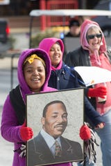 Makalyn Lauderdale participates in the Together We Are Greater MLK Unity Day March in Gallatin on Monday, Jan. 21, 2019. The event was presented by the Sumner County NAACP Branch.