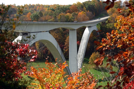 The Natchez Trace Parkway Bridge crosses over state Route 96 in Williamson County. It's been the site of 32 deaths by suicide since 2000.