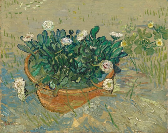 "Vincent van Gogh (Dutch, 1853-1890). ""Daisies, Arles,"" 1888. Oil on canvas, 13 x 16 1/2 in. Virginia Museum of Fine Arts, Richmond, Collection of Mr. and Mrs. Paul Mellon, 2014.207."