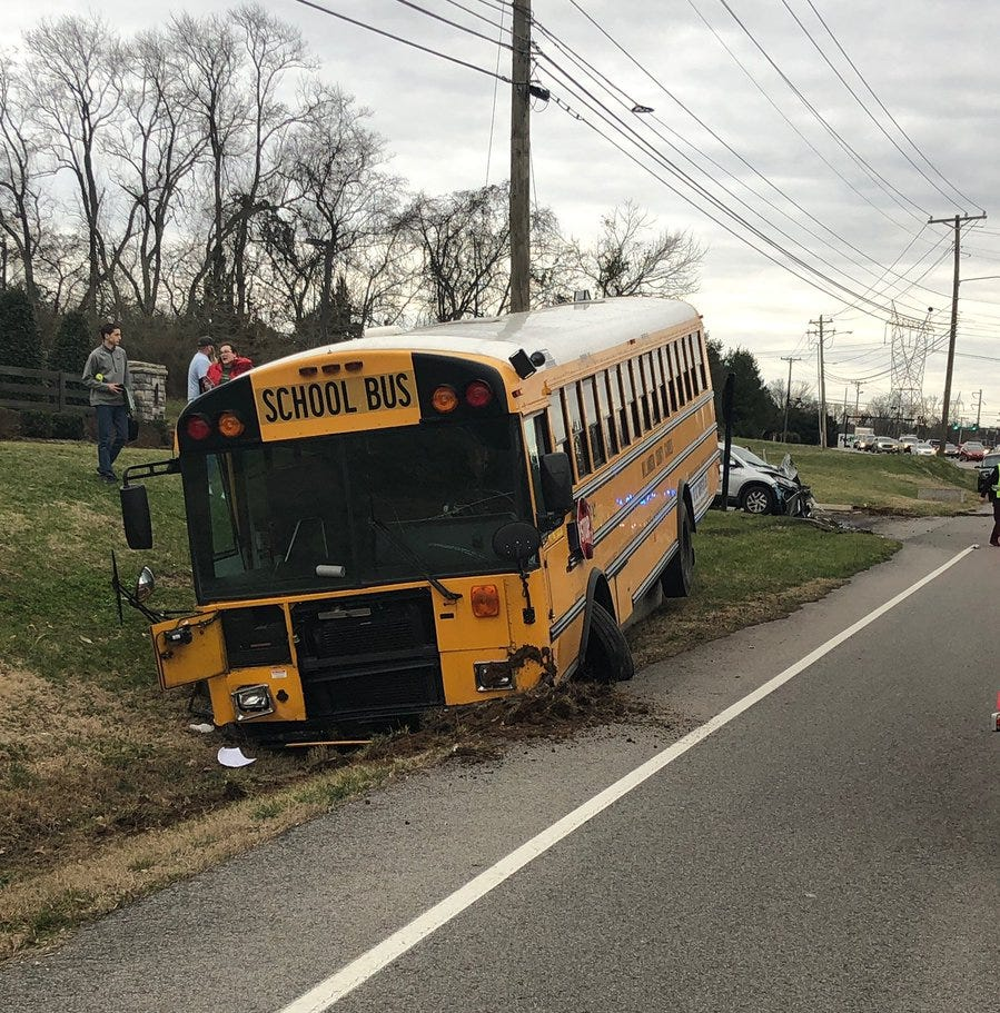Brentwood school bus crash: Student, driver injured on route from Ravenwood High School