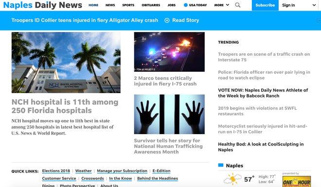 The Naples Daily News website naplesnews.com.