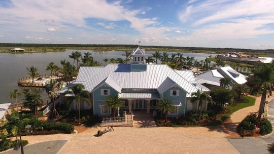 Aerial view of Naples Reserve Island Club.
