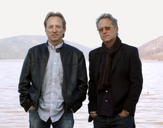 America band members Dewey Bunnell, left, and Gerry Beckley.