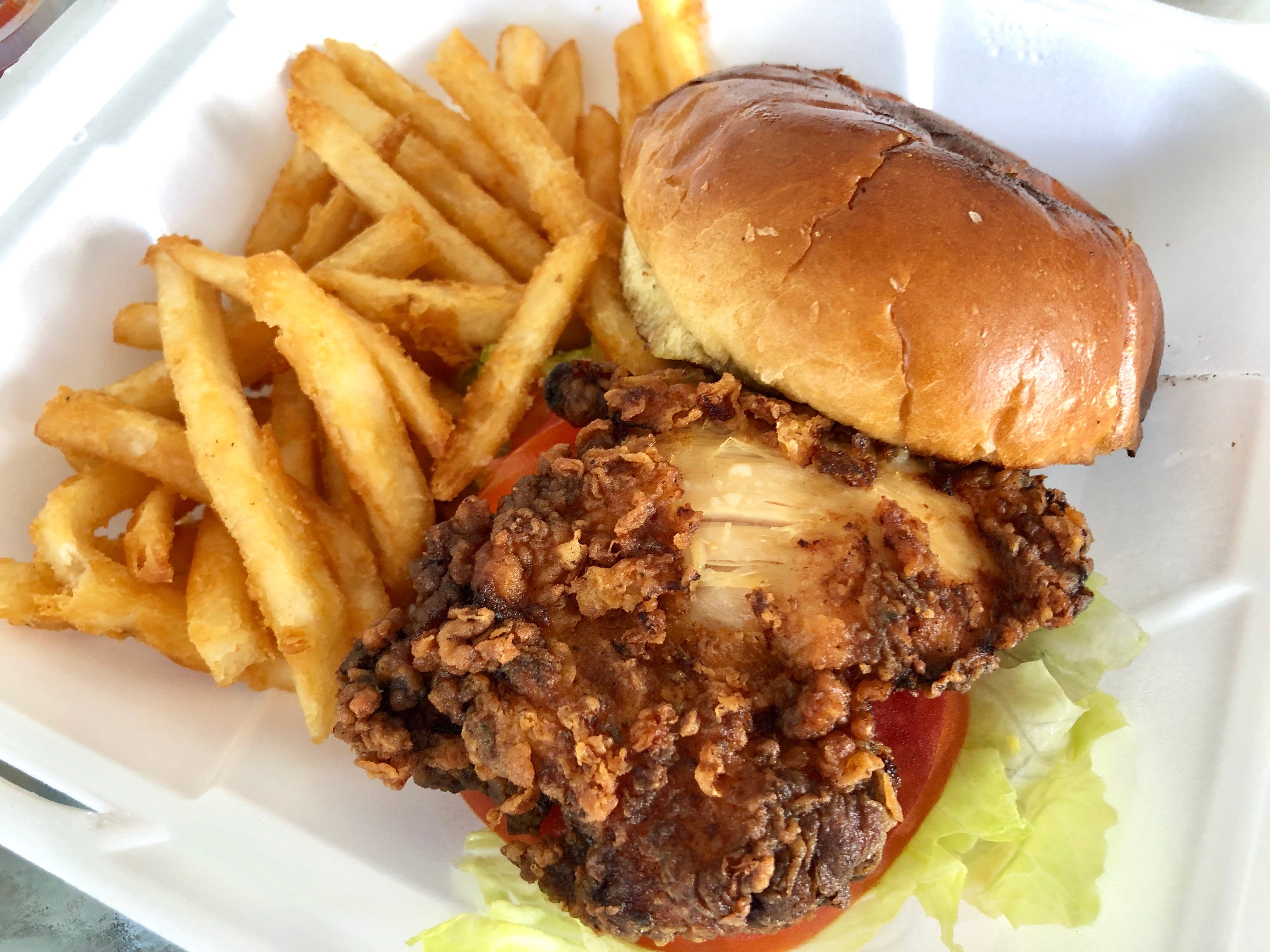 Crispy chicken sandwich is new to the lunch menu at Drop the Anchor seafood restaurant in North Naples.